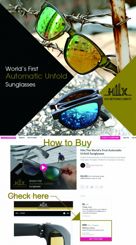 新晉眼鏡品牌 Hilx - The World's First Automatic Unfold Sunglasses