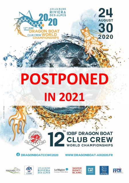 The 12th IDBF Club Crew World Championships will not be held in 2020